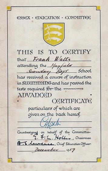 1959-Swimming-Certificate